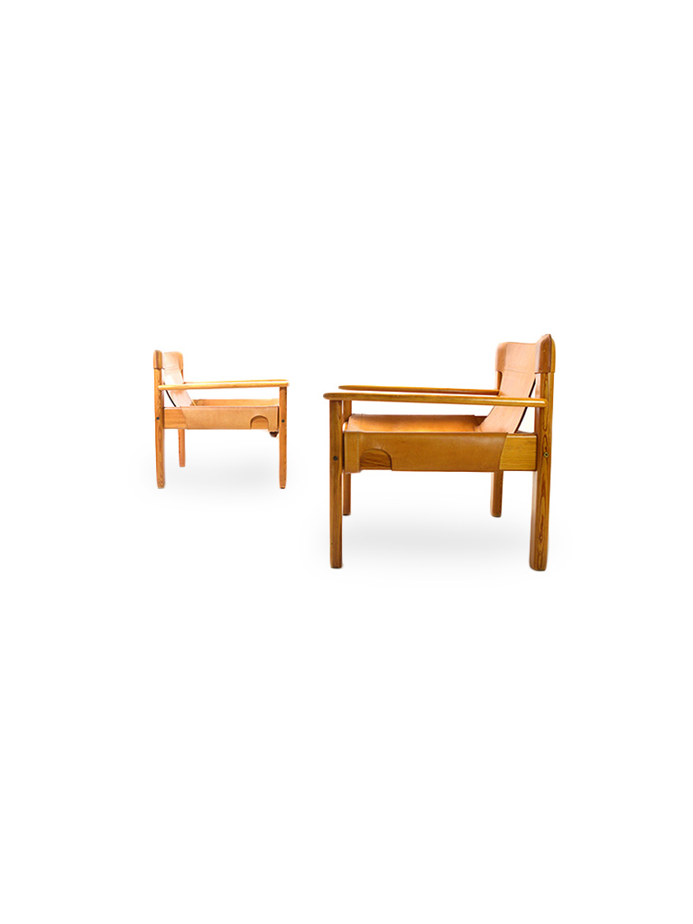 A PAIR OF EASY CHAIRS BY KARIN MOBRING