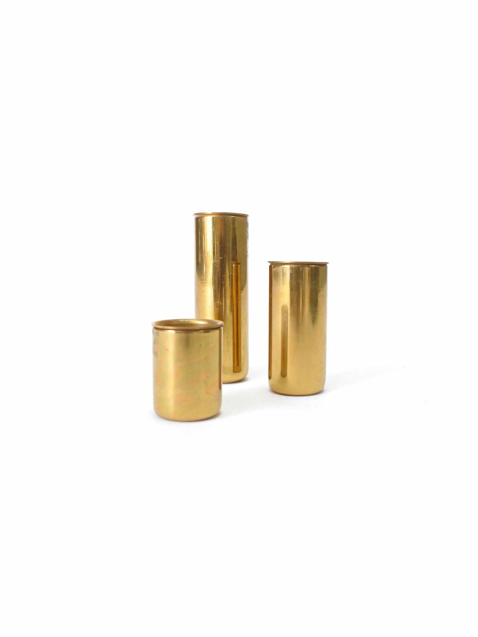 SET OF BRASS CANDLEHOLDERS