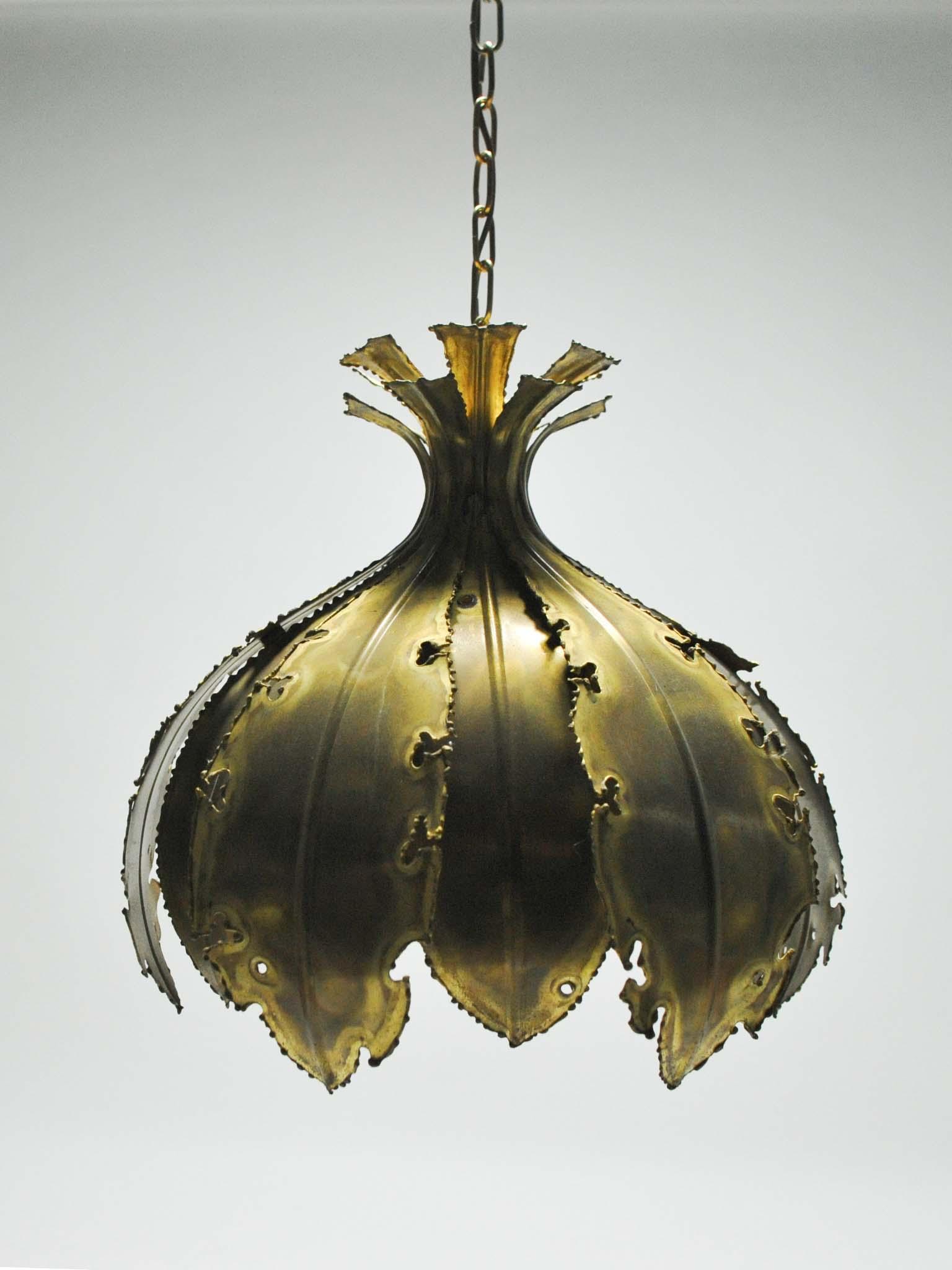 BRUTALIST CEILING LAMP BY SVEN AAGE HOLM-SORENSEN