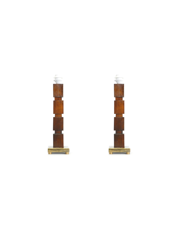 PAIR OF SKYSCRAPER TABLE LAMPS