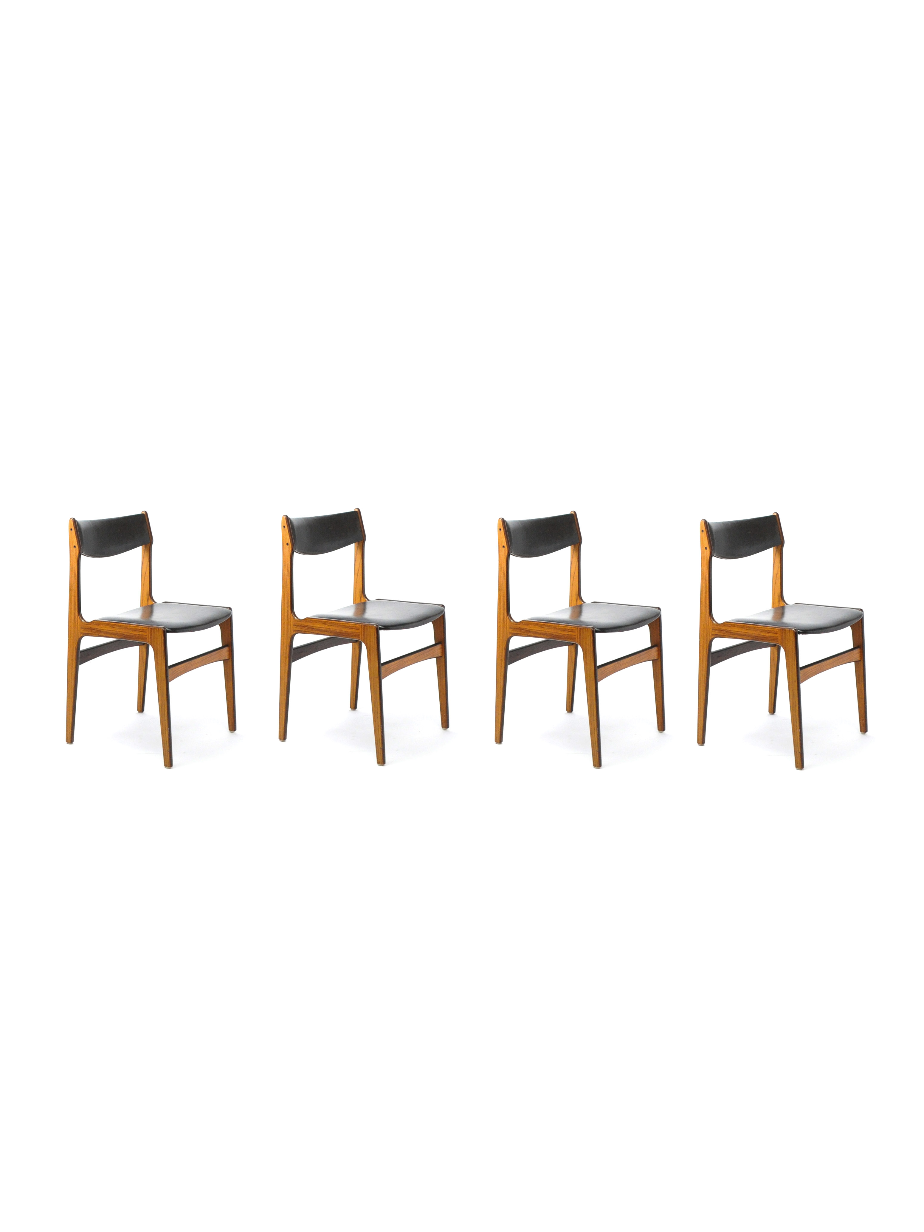 SET OF FOUR CHAIRS ATTRIBUTED TO ERIK BUCK