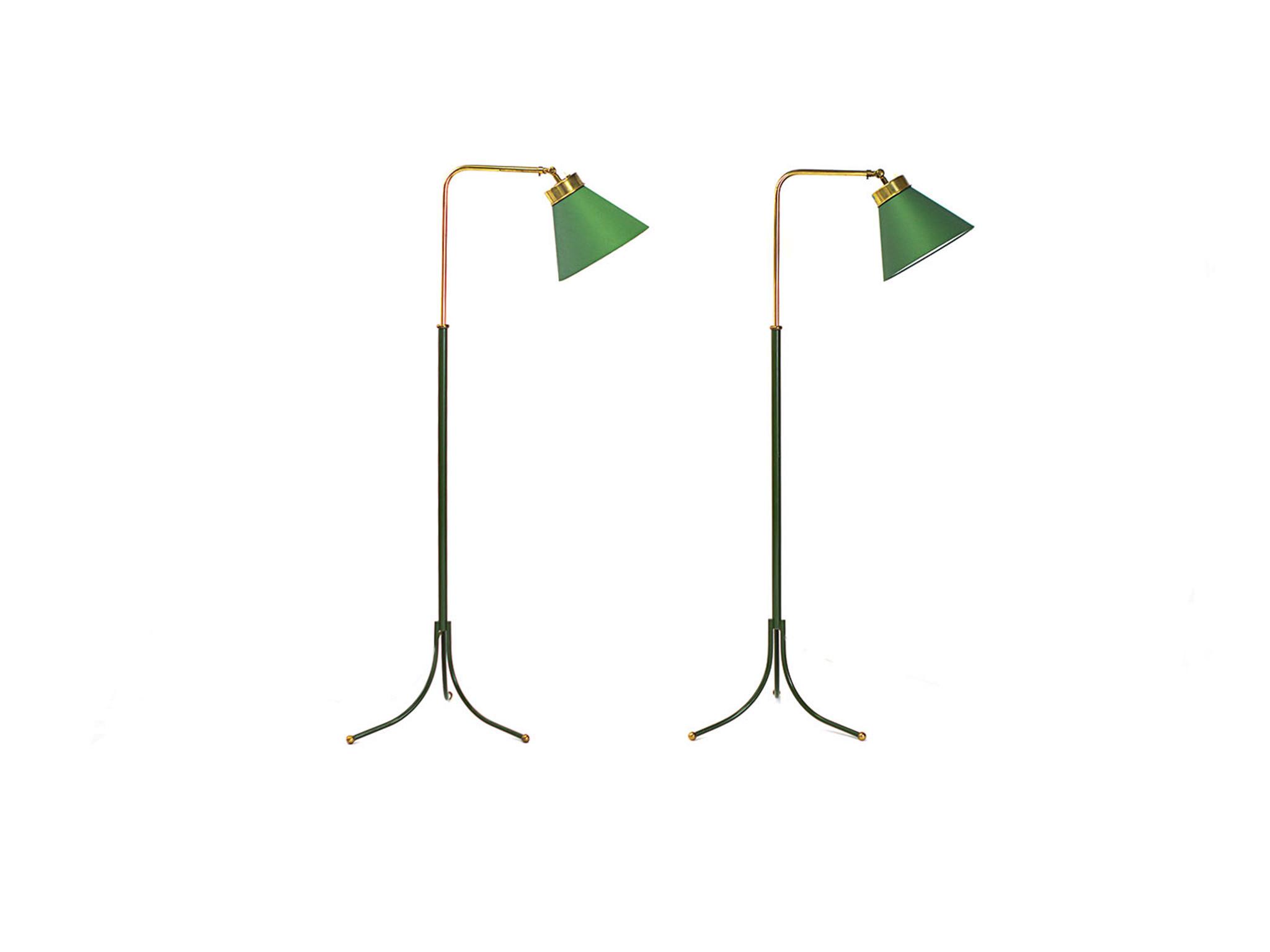 PAIR OF FLOOR LAMPS 1842 BY JOSEF FRANK FOR FIRMA SVENSKT TENN