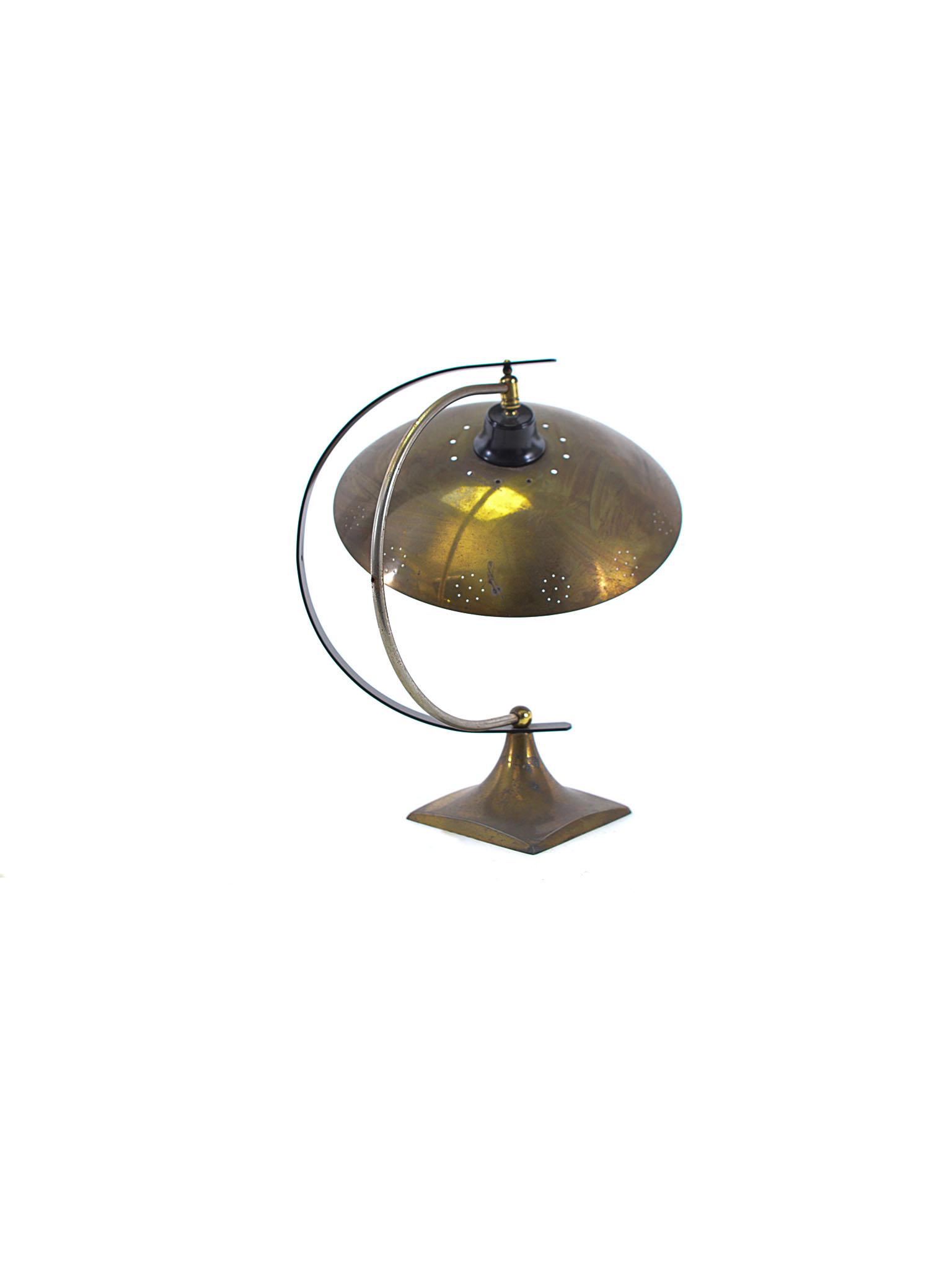 ART DECO HALF MOON DESK LAMP