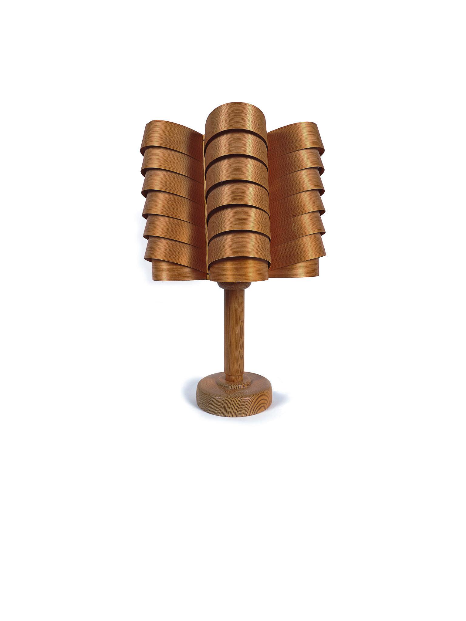 RARE HANS-AGNE JAKOBSSON PINE LAMP